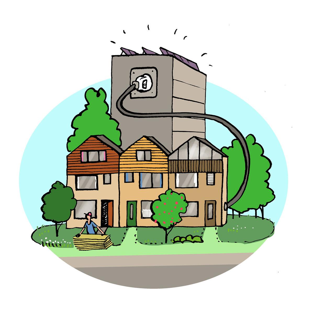 Illustratie Olivier Mooie mix toekomstbestendige en duurzame wijk