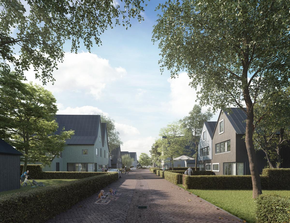 Impressie van nieuwbouwproject Eilanden van Hain