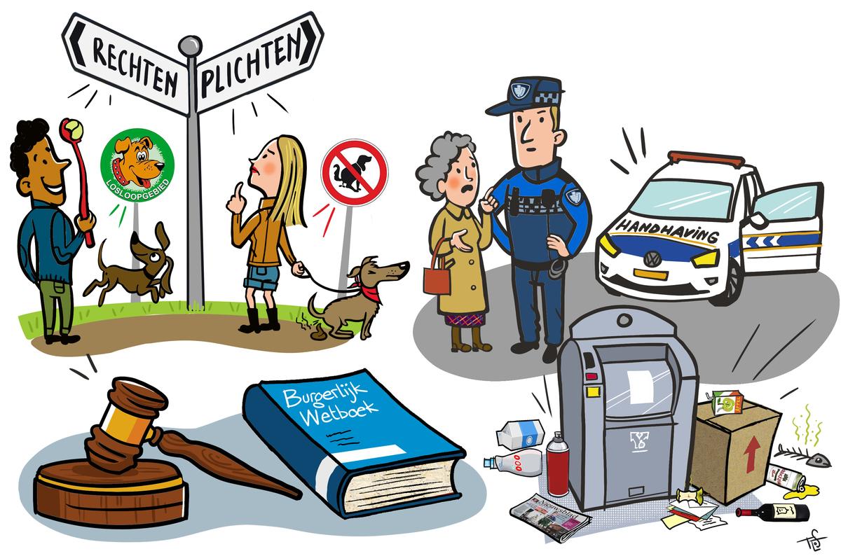Illustratie van de rechtmatige overheid